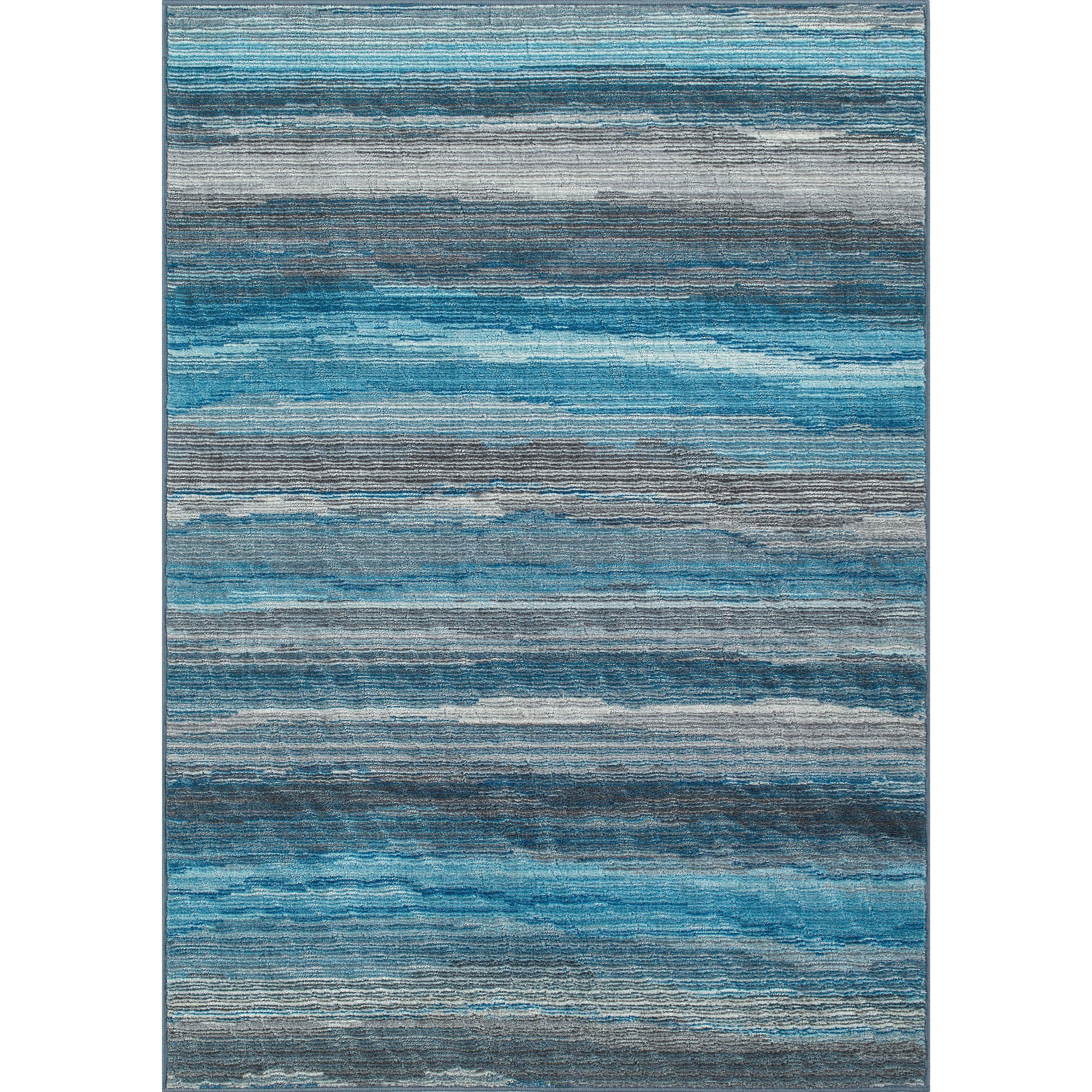 """Horizons Graphite 4'11""""X7'4"""" Area Rug by Dalyn at Fashion Furniture"""