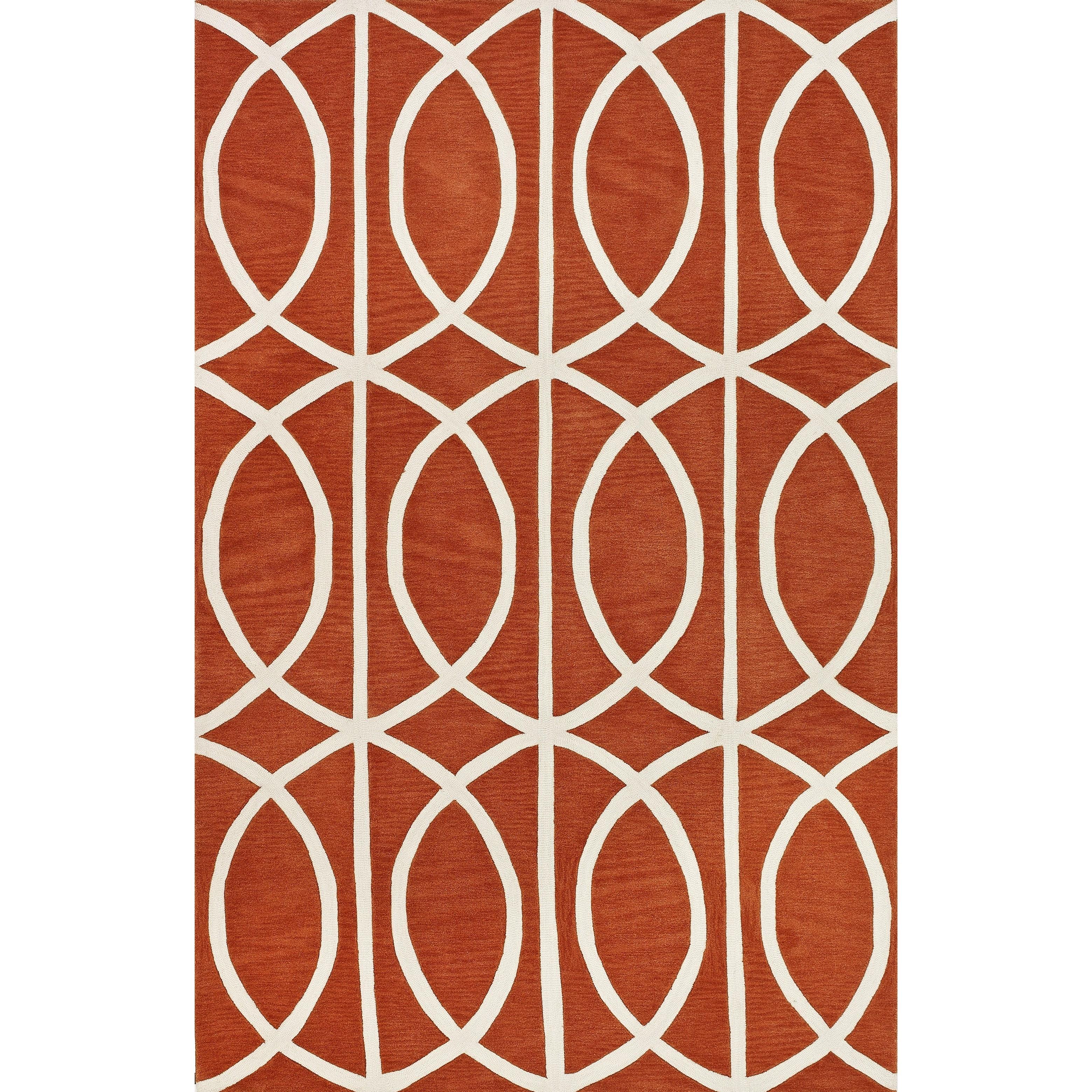 "Infinity Pumpkin 5'X7'6"" Rug by Dalyn at Arwood's Furniture"