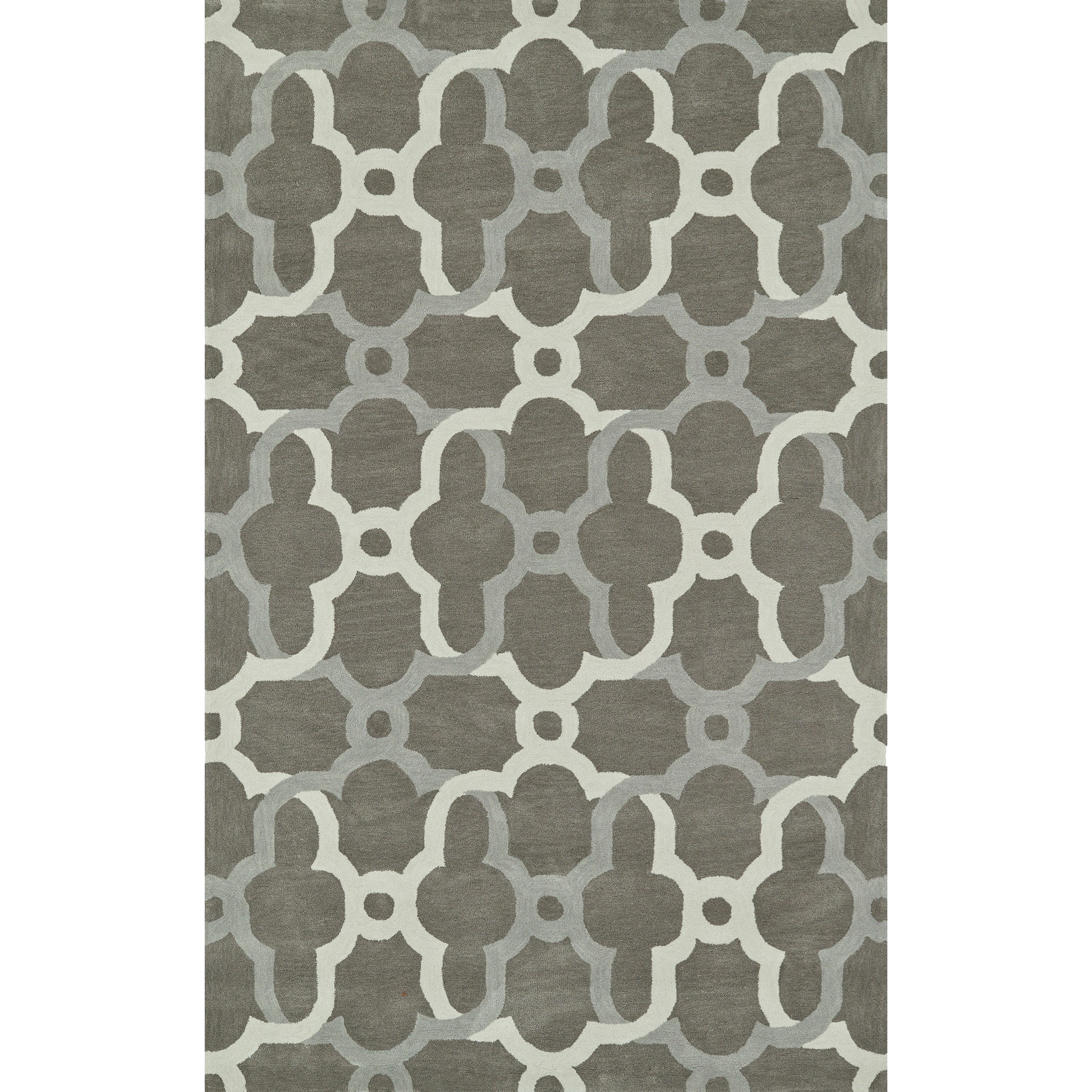 """Journey Pewter 5' x 7'6"""" Rug by Dalyn at Fashion Furniture"""