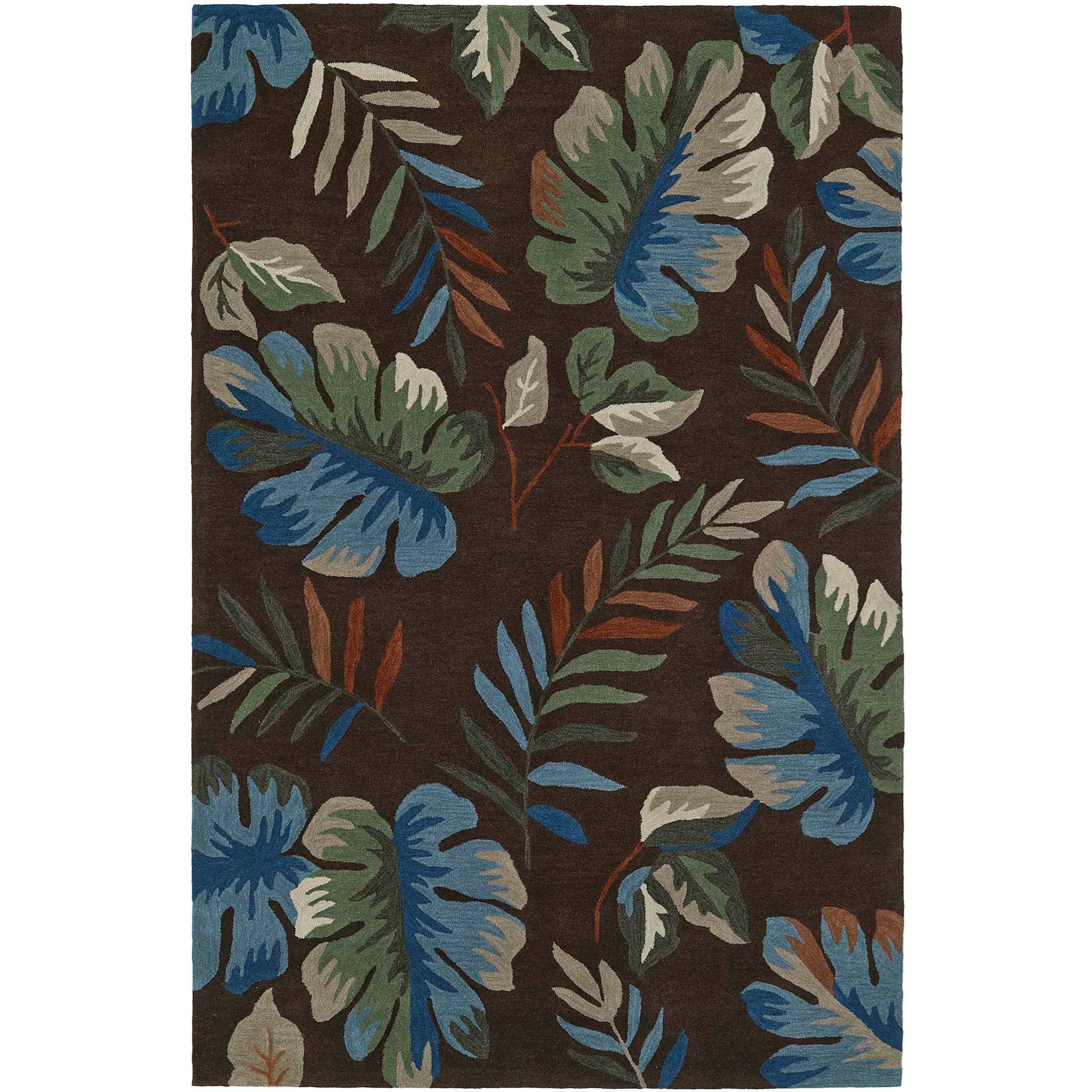 "Maui Chocolate 3'6""X5'6"" Rug by Dalyn at Fashion Furniture"