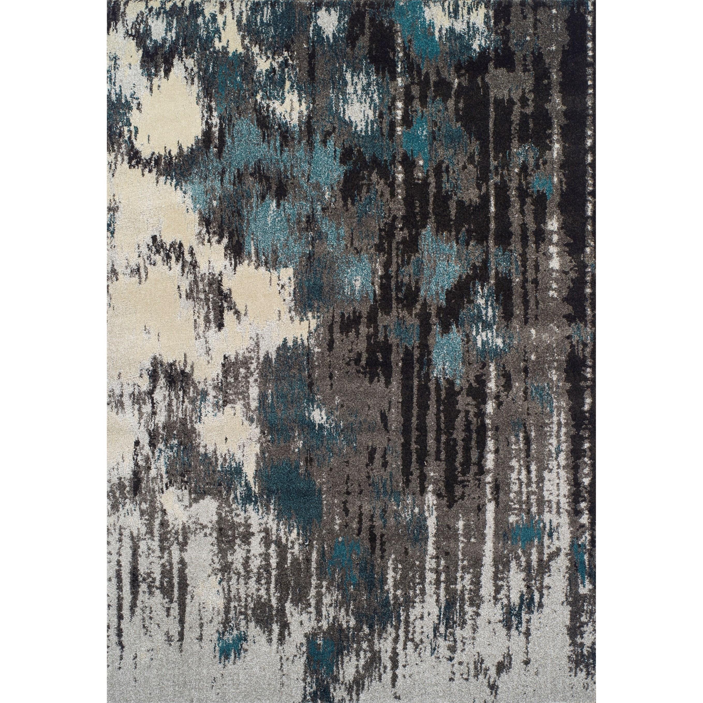 "Modern Greys Teal 3'3""X5'3"" Rug by Dalyn at Hudson's Furniture"