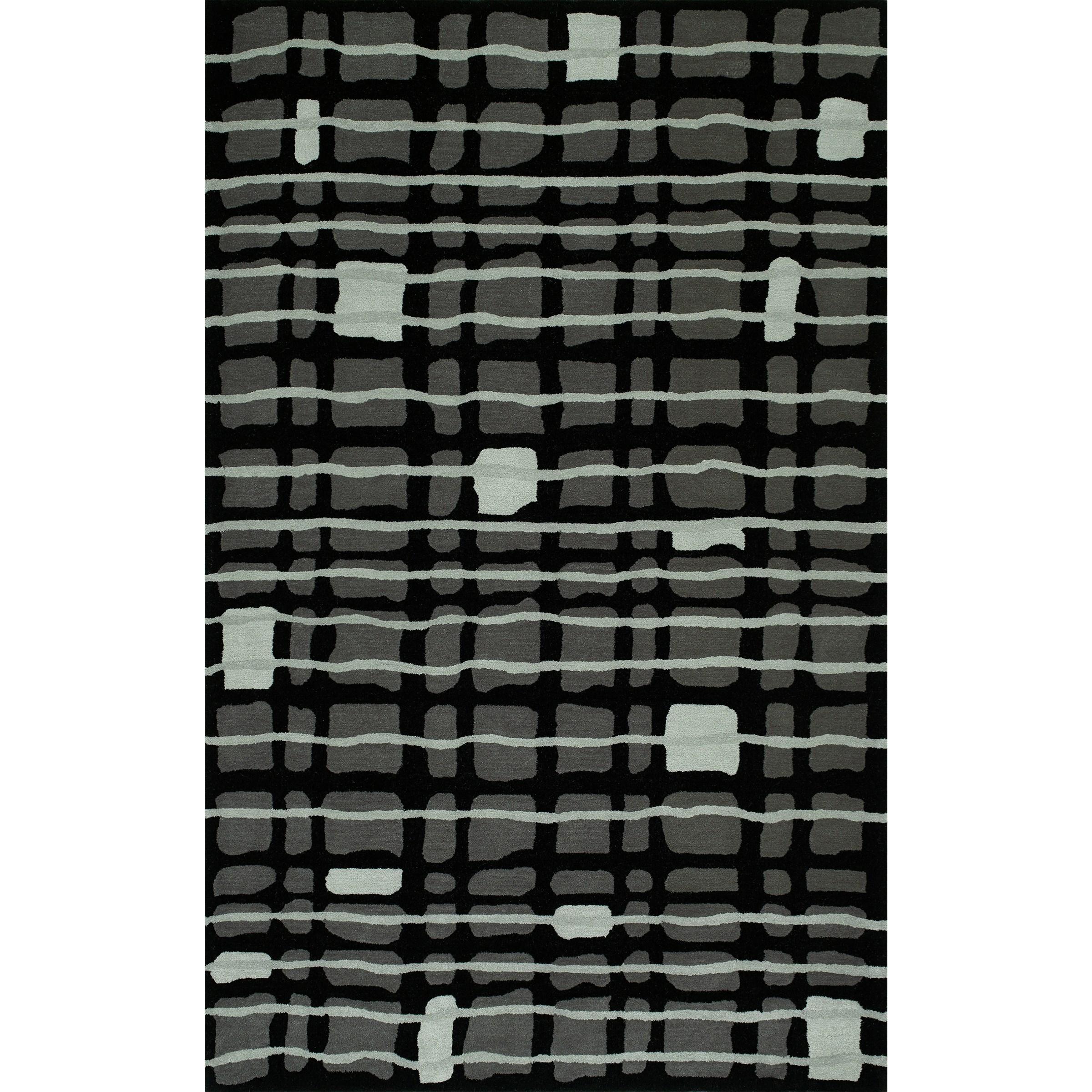 "Santino Black 3'6""X5'6"" Rug by Dalyn at Fashion Furniture"