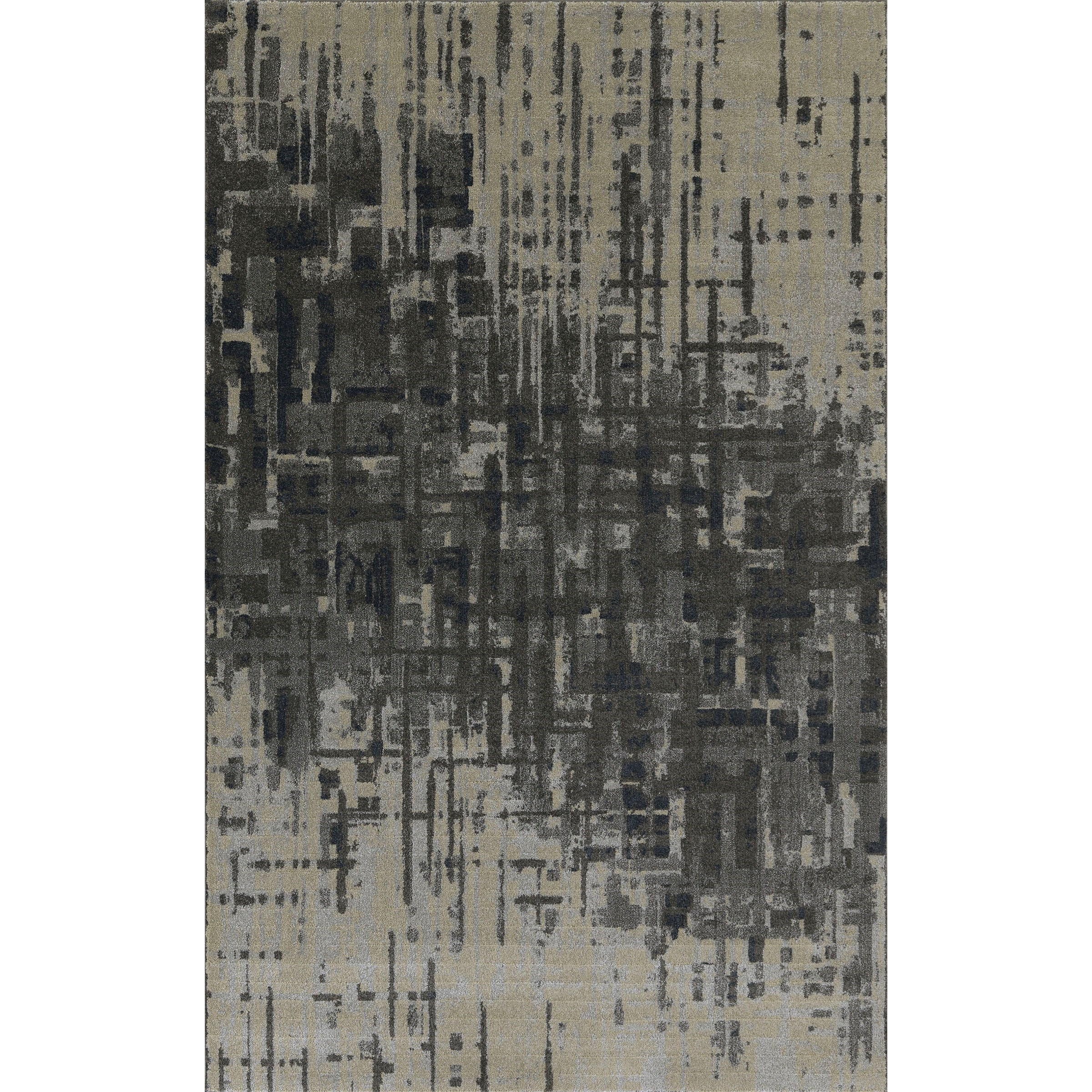 "Upton Pewter 5'3""X7'7"" Rug by Dalyn at Fashion Furniture"
