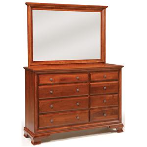 8-Drawer Triple Dresser & Mirror