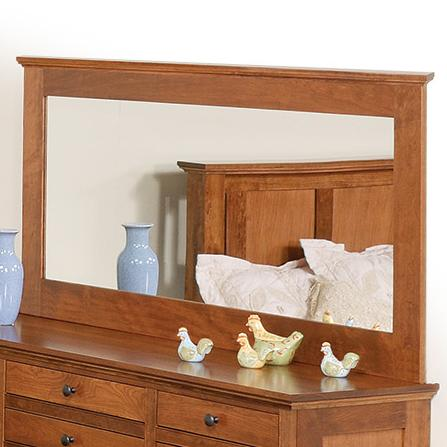 Elegance Low Wide Mirror by Daniel's Amish at Saugerties Furniture Mart