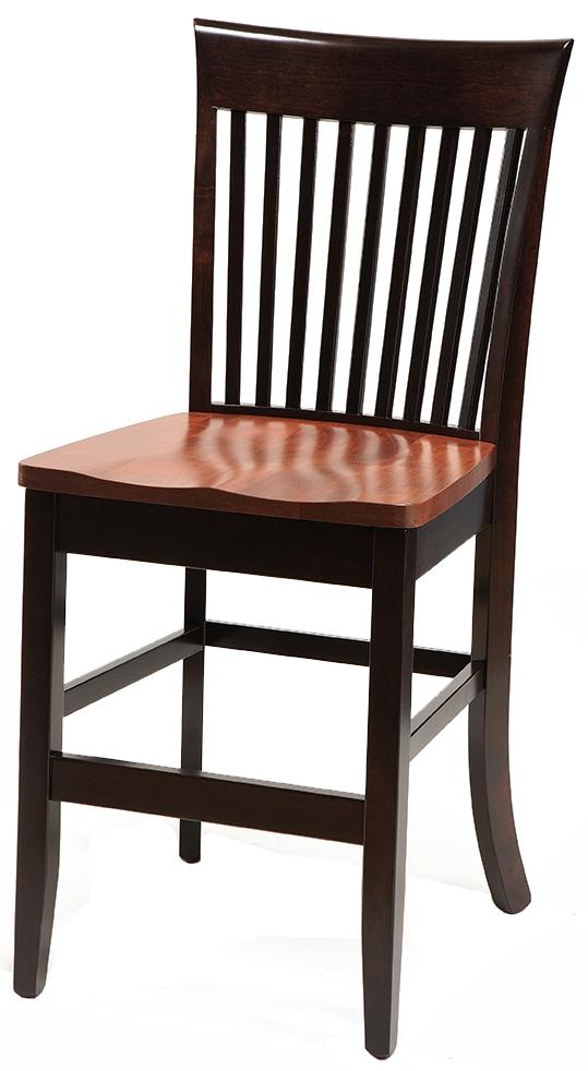 "Carleton Side Chair 30"" High Stationary Base Stool by Daniel's Amish at Lapeer Furniture & Mattress Center"