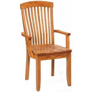 Empire Arm Chair with Wood Seat