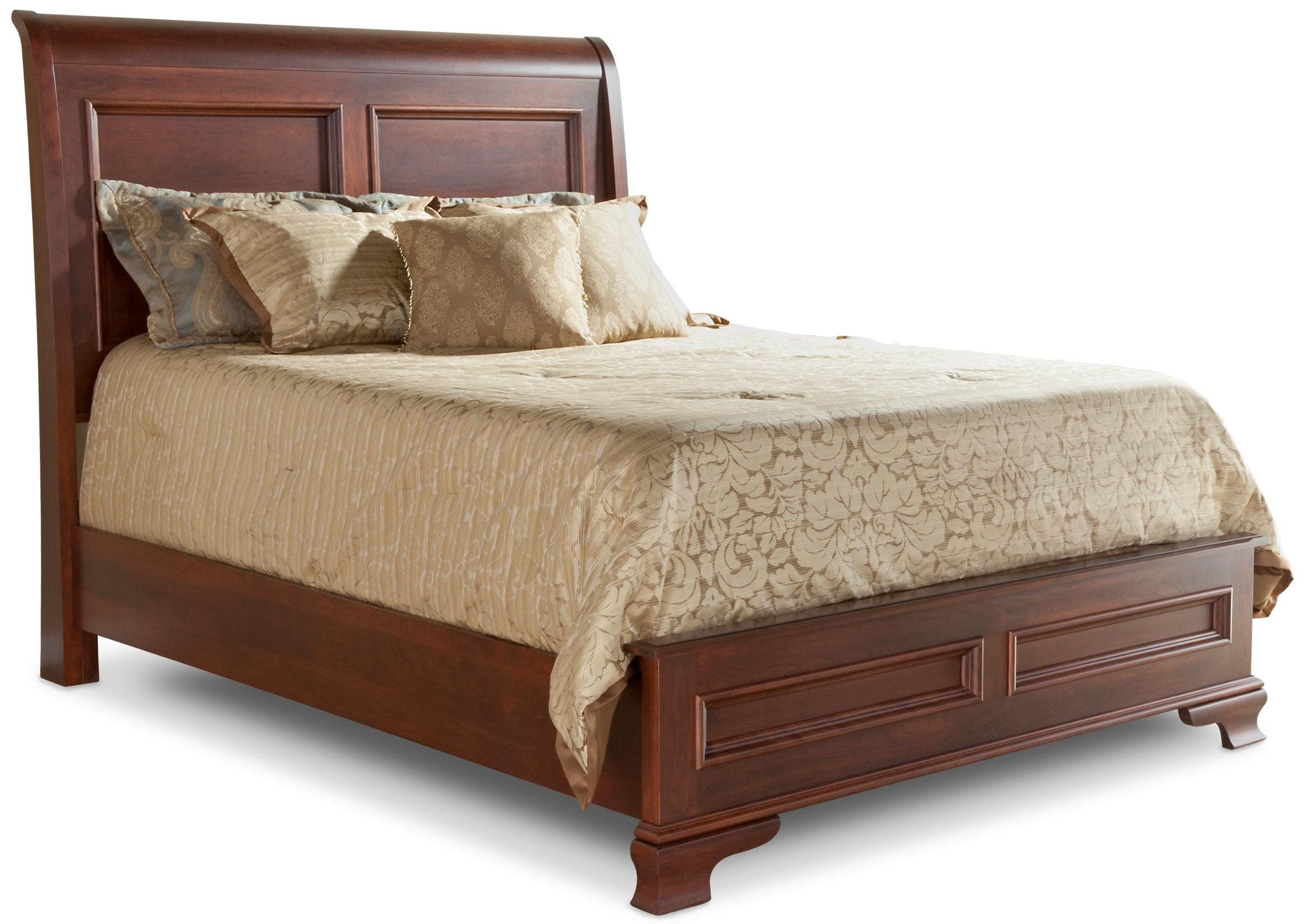 Classic Sleigh Bed with Low Footboard by Daniel's Amish at Pilgrim Furniture City