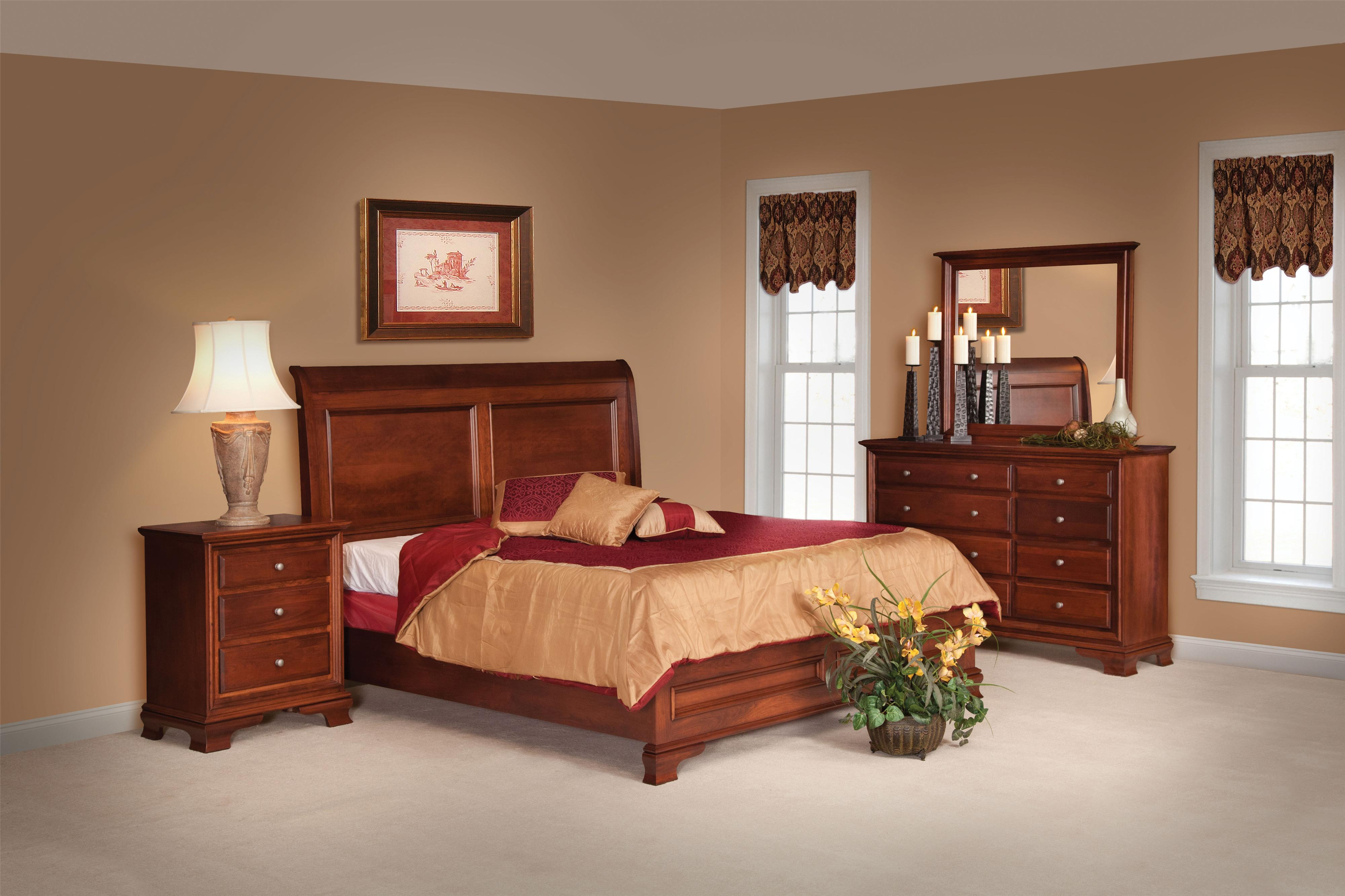 Classic Queen Bedroom Group by Daniels Amish at Virginia Furniture Market
