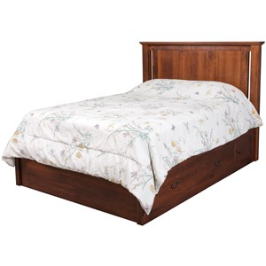 "Queen Pedestal Bed with 60"" Wide Drawers"