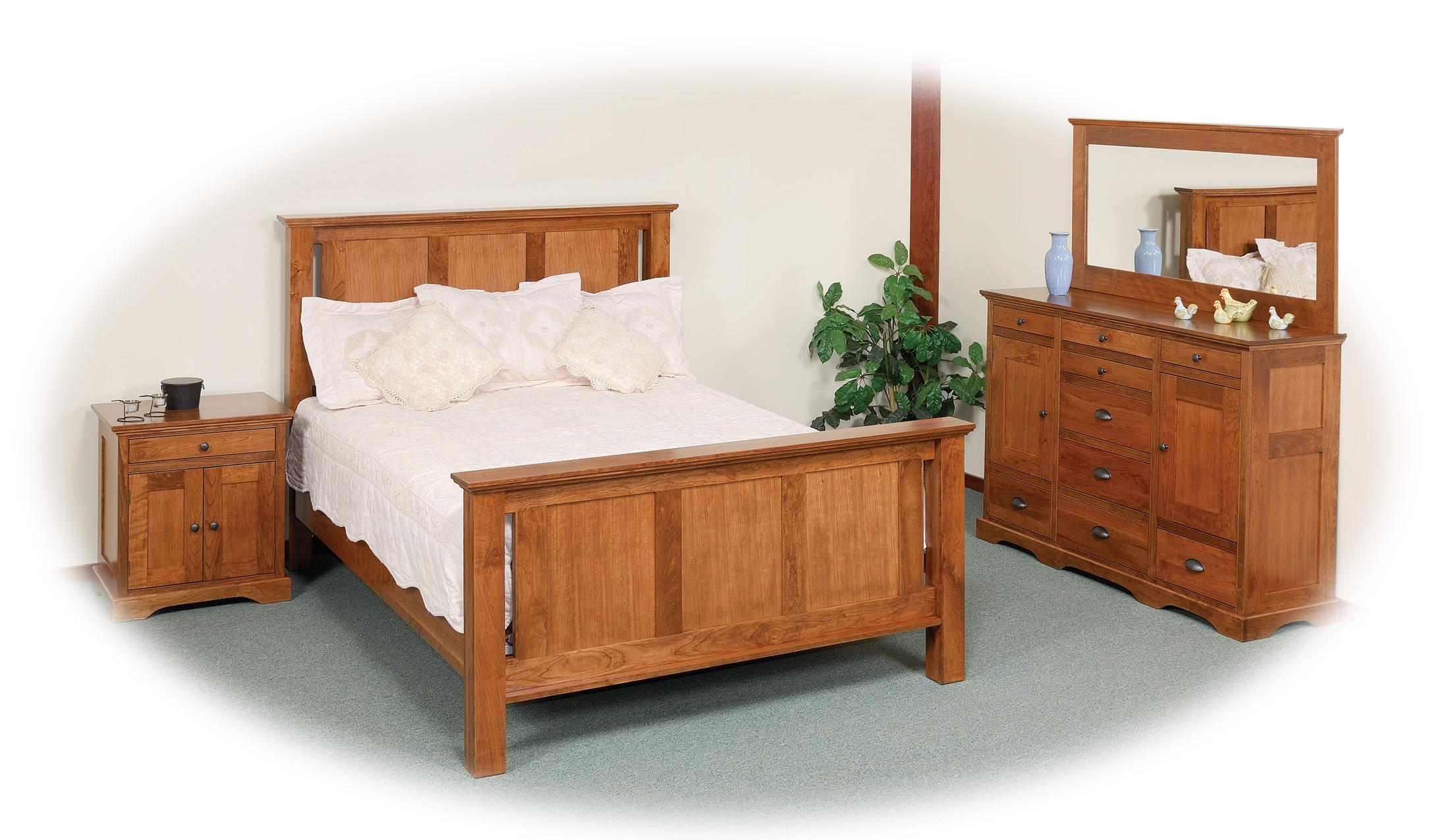 Elegance Queen Bedroom Group by Daniel's Amish at Prime Brothers Furniture