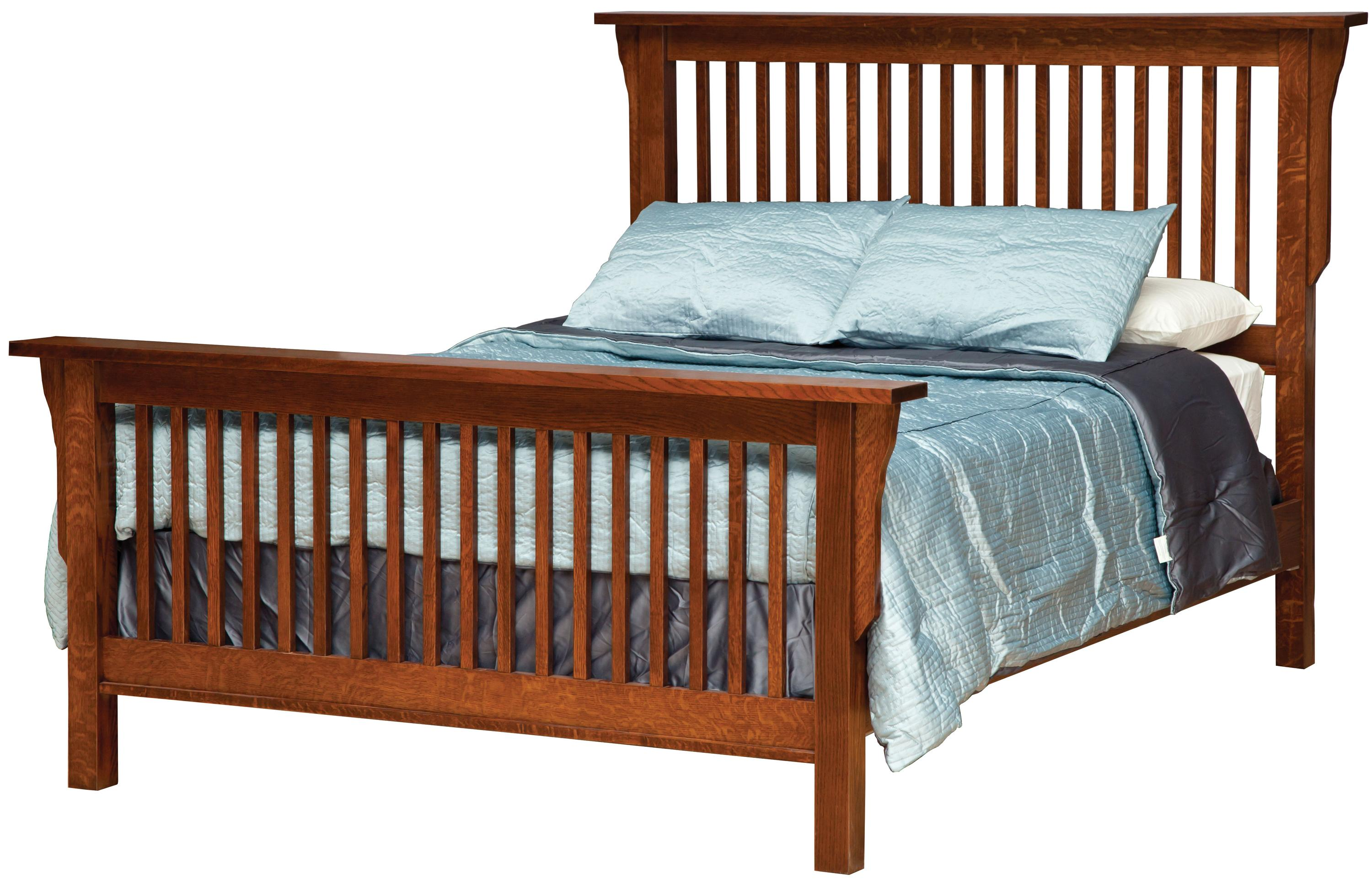 Mission Queen Frame Bed  by Daniel's Amish at Saugerties Furniture Mart