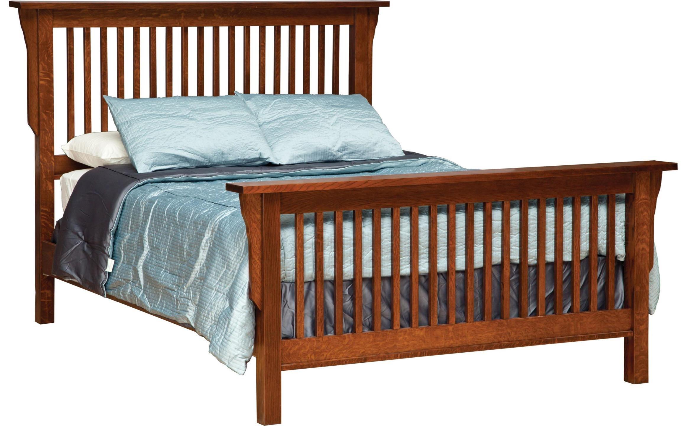 Mission Queen Frame Bed  at Sadler's Home Furnishings