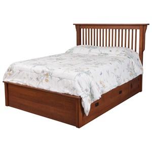 """Queen Pedestal Bed W/ 60"""" Storage Drawer on Each Side"""