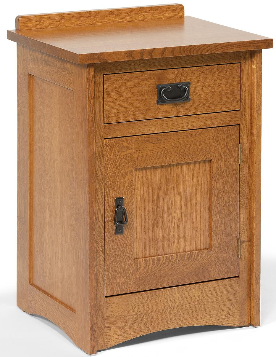 Mission Nightstand by Daniel's Amish at Saugerties Furniture Mart