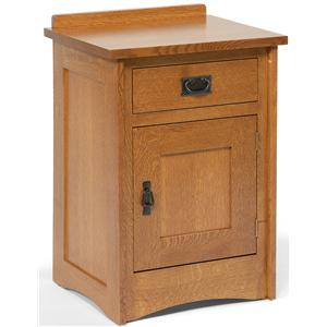 1-Drawer Mission-Style Nightstand with 1 Door
