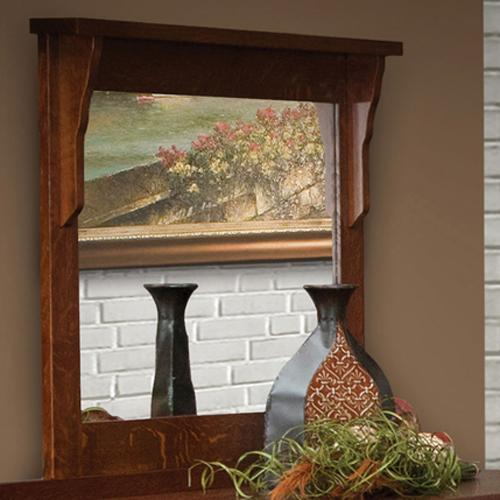 Mission 42 X 36 Mirror by Daniel's Amish at Saugerties Furniture Mart