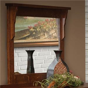 42 X 36 Landscape Mirror with Solid Wood Frame