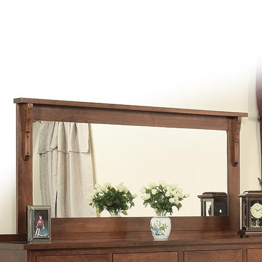 Mission 58 x 28 Mirror by Daniel's Amish at Goffena Furniture & Mattress Center