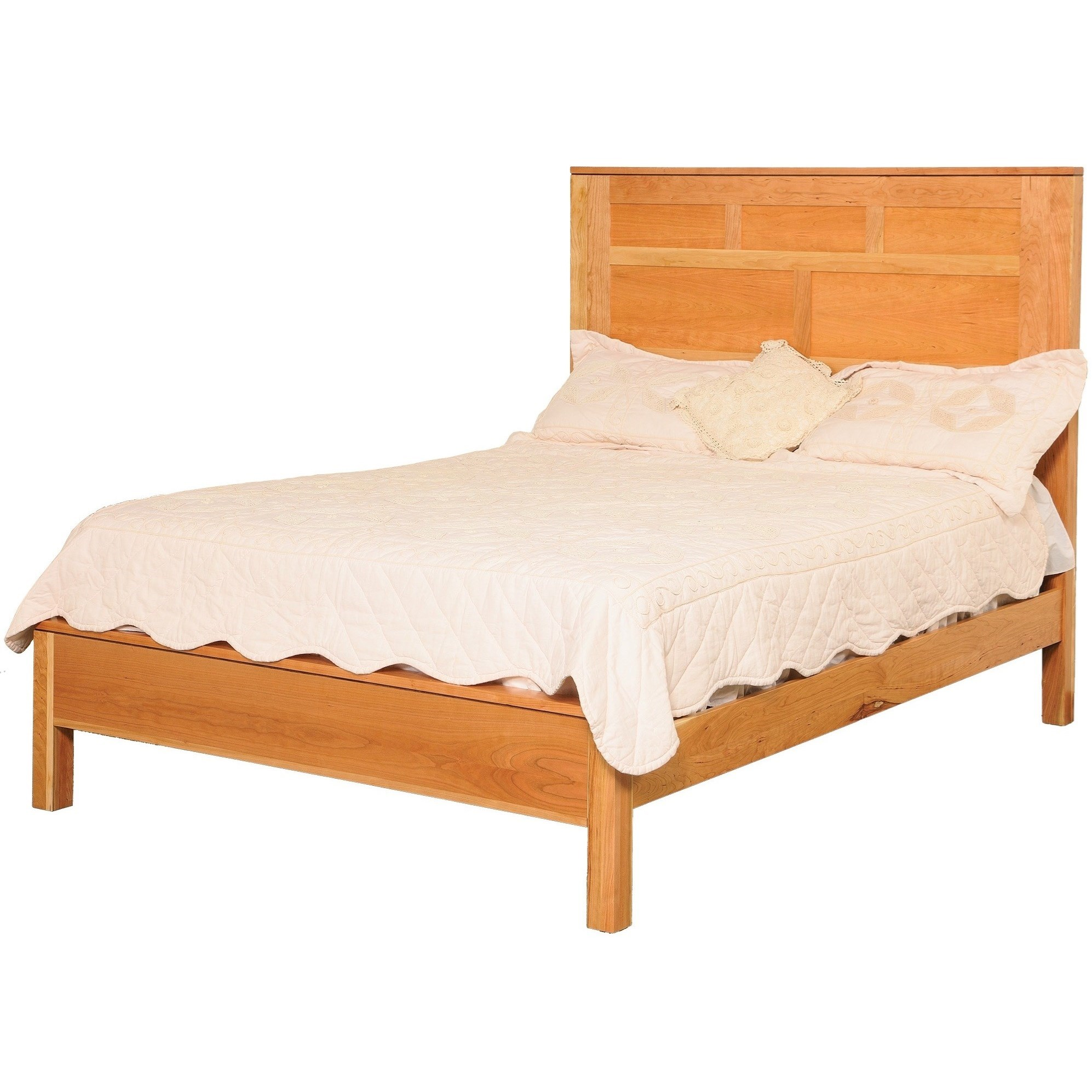 Modern Queen Panel Bed by Daniel's Amish at Lapeer Furniture & Mattress Center