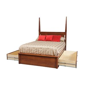 "King Pedestal Bed W/ 60"" Storage Drawers on Each Side"