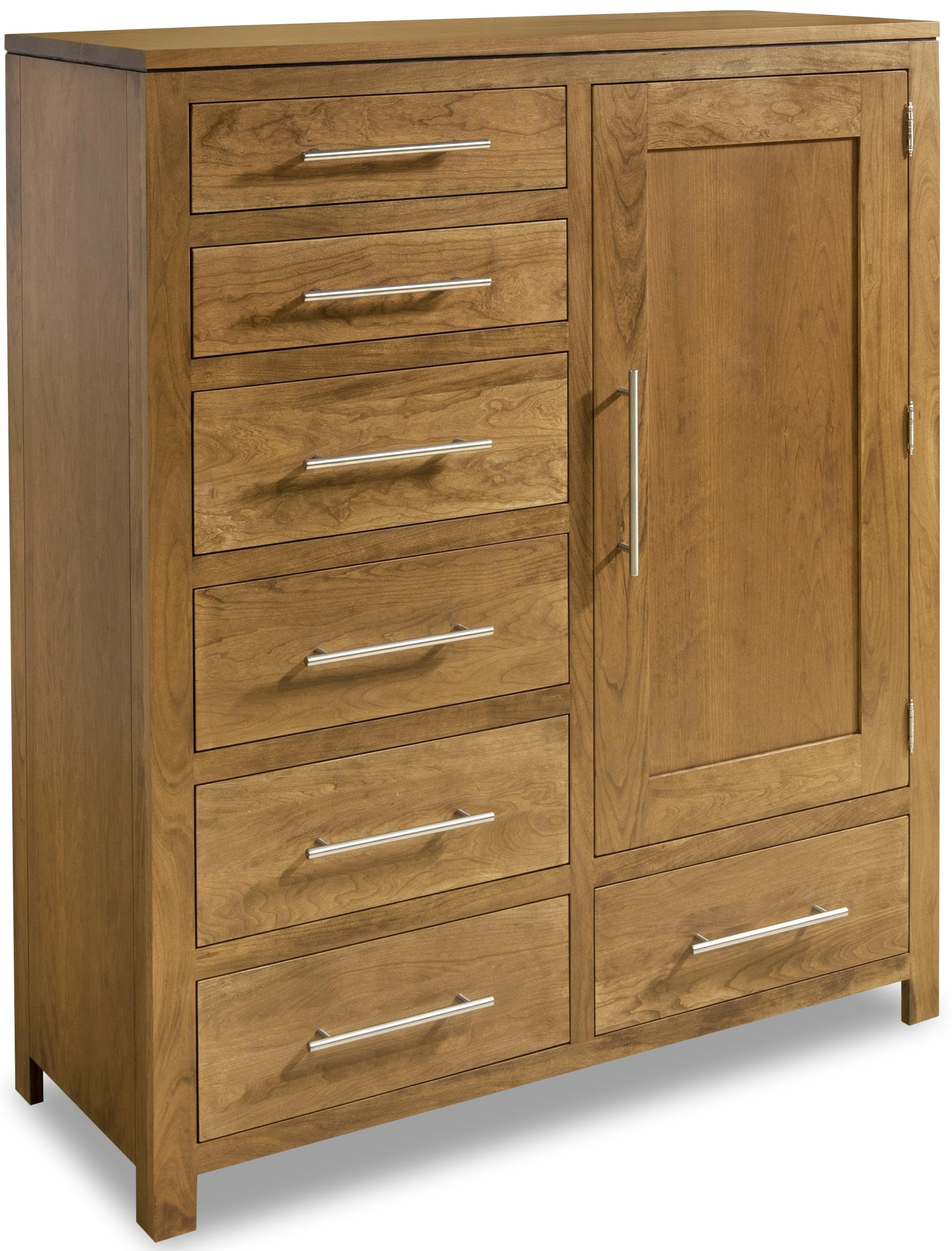 Modern Bachelor's Chest by Daniel's Amish at Saugerties Furniture Mart