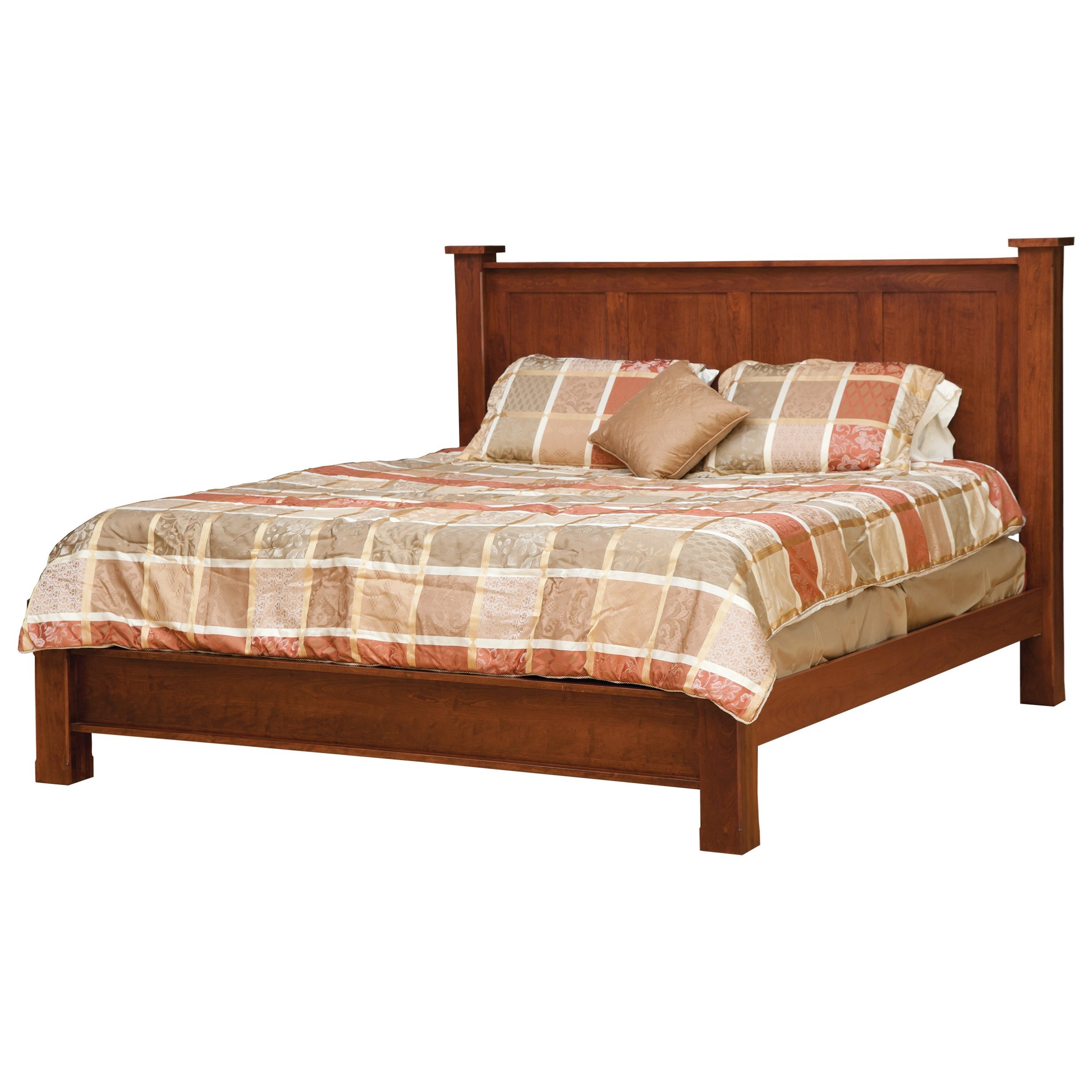 Treasure Queen Bed with Low Footboard by Daniel's Amish at Furniture Superstore - Rochester, MN