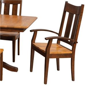Daniel's Amish Chairs and Barstools Tampa Arm Chair
