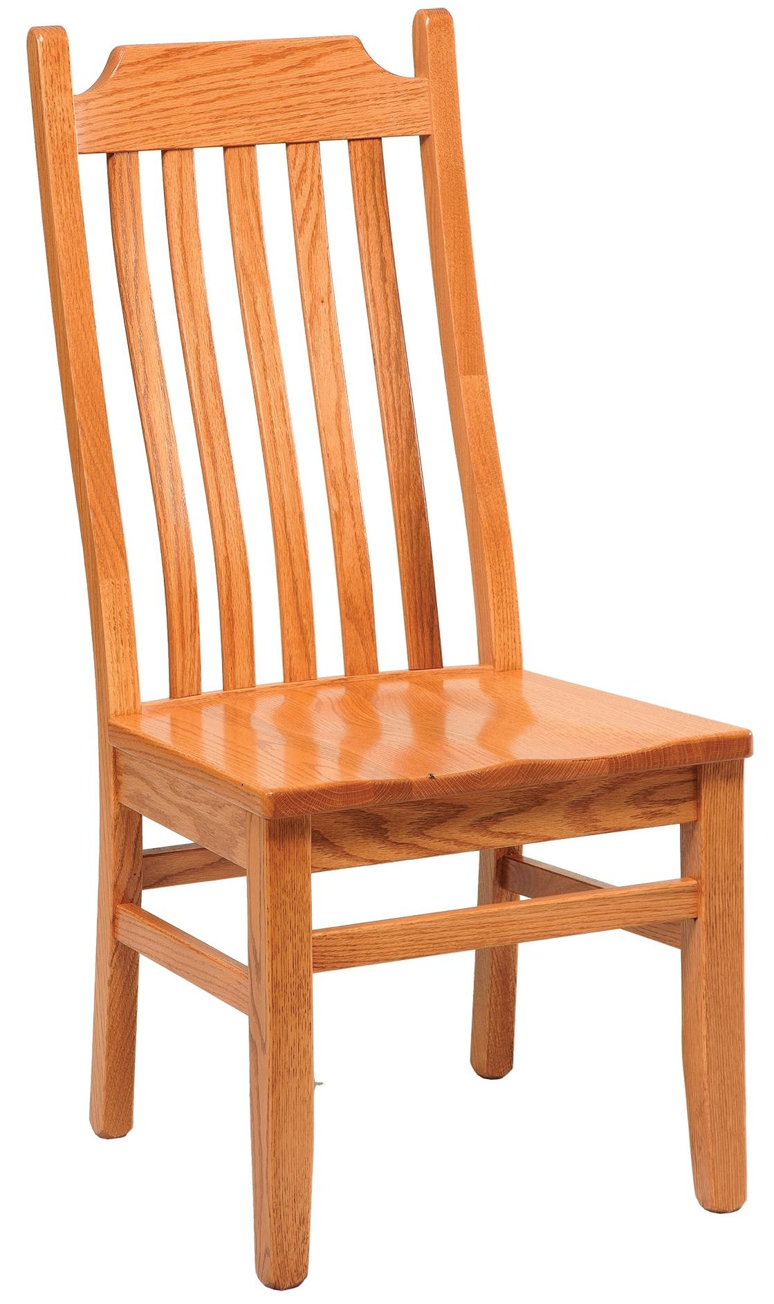 Chairs and Barstools Shaker Lumbar Side Chair by Daniel's Amish at Lucas Furniture & Mattress