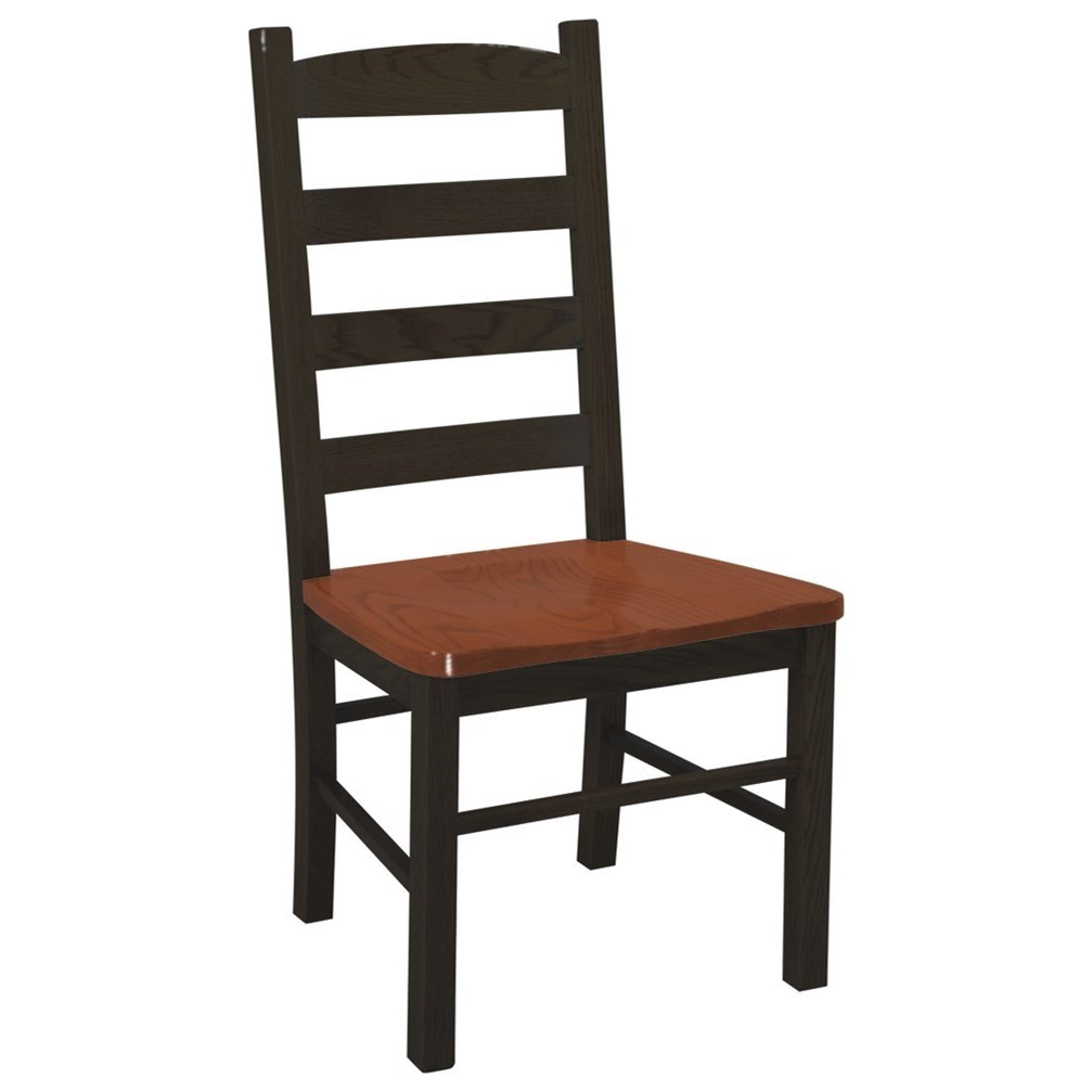 Chairs and Barstools Ladder Back Side Chair by Daniel's Amish at H.L. Stephens