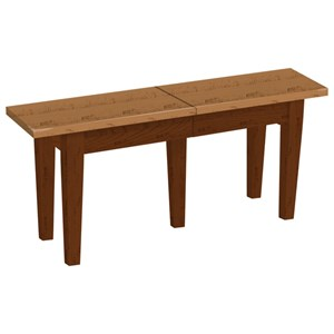 Solid Top Extendable Dining Bench with 2 12