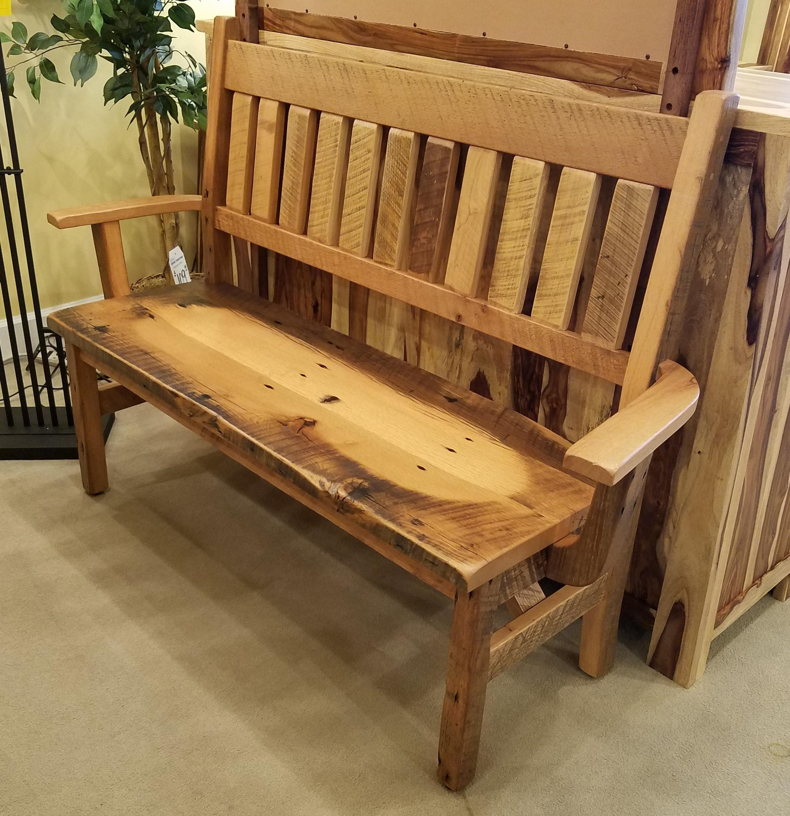 Reclaimed Barnwood Bench by Daniel's Amish at Rife's Home Furniture