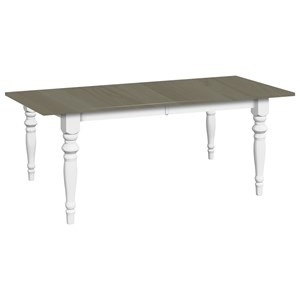 "Solid Wood Dining Table with 2 12"" Self-Storing Leaves"