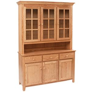 Daniel's Amish Hutch and Buffets Shaker Hutch and Buffet