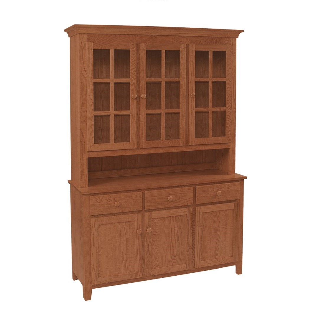 Hutch and Buffets Shaker Deluxe Hutch & Buffet at Sadler's Home Furnishings