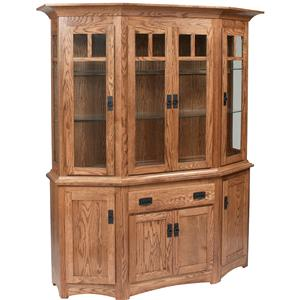 Daniel's Amish Hutch and Buffets Canted Hutch and Buffet