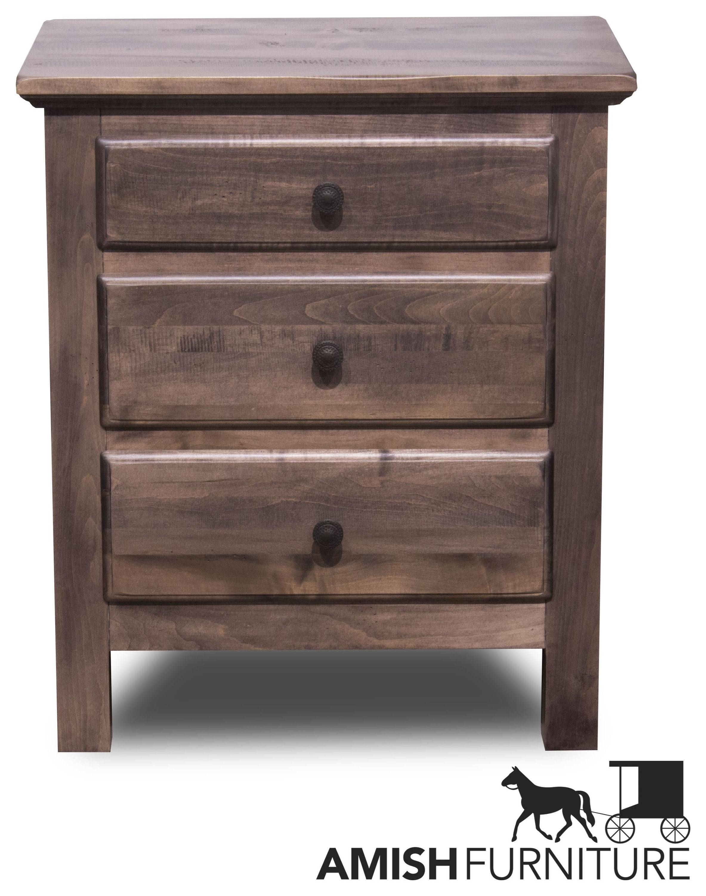 Lewiston 3 Drawer Night Stand by Daniel's Amish at Ruby Gordon Home
