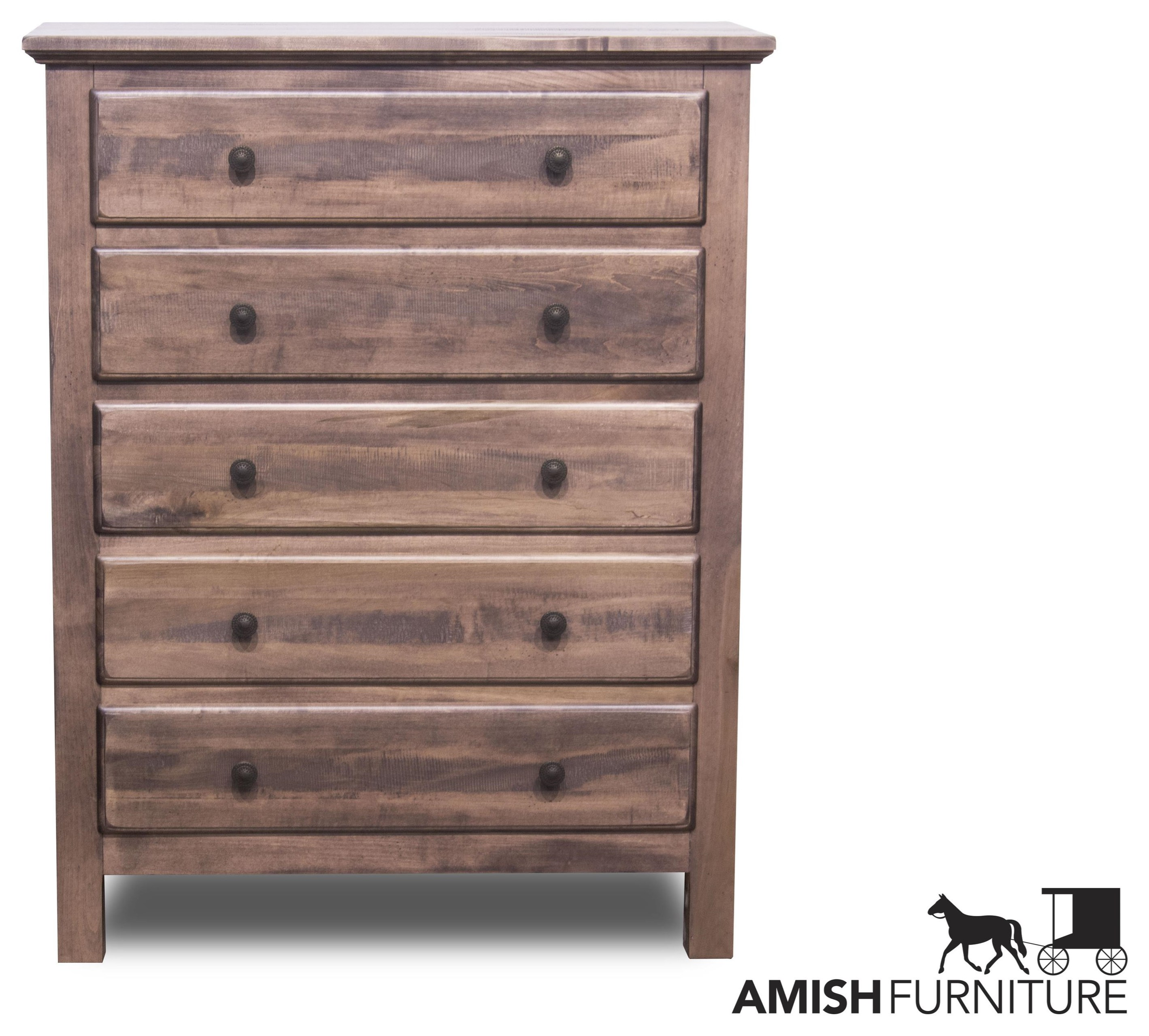 Lewiston 5 Drawer Chest by Daniel's Amish at Ruby Gordon Home
