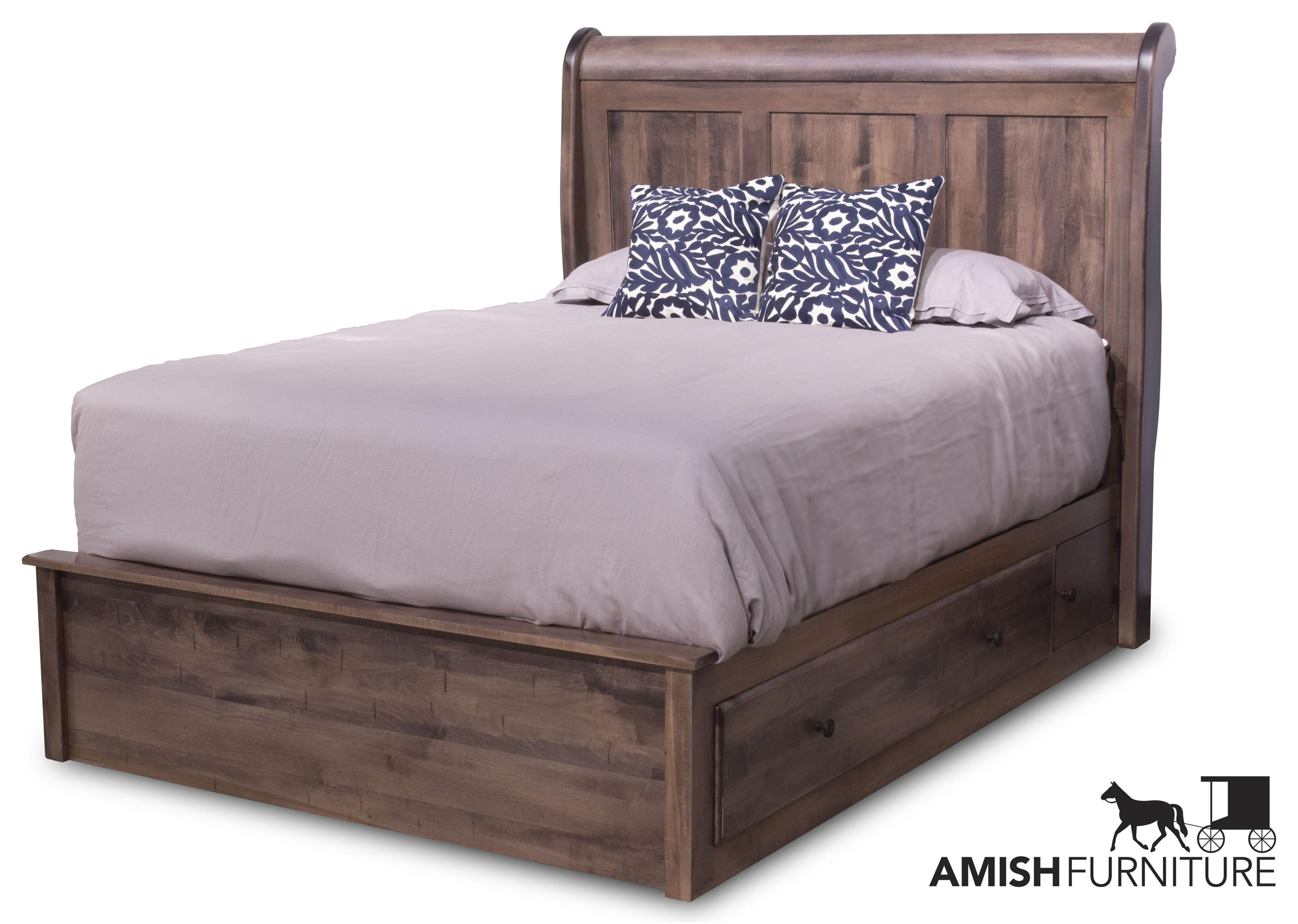 Lewiston King Storage Bed by Daniel's Amish at Ruby Gordon Home