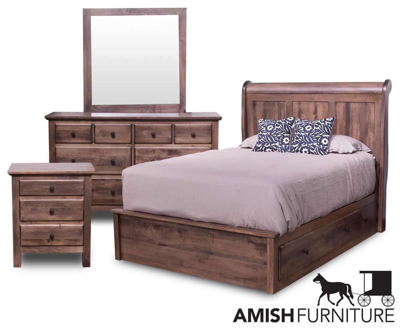 Lewiston 4-Piece Queen Bedroom by Daniel's Amish at Ruby Gordon Home