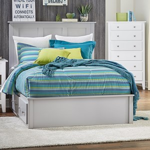 Full Pedestal Bed w/ 2 Drawers on Each Side