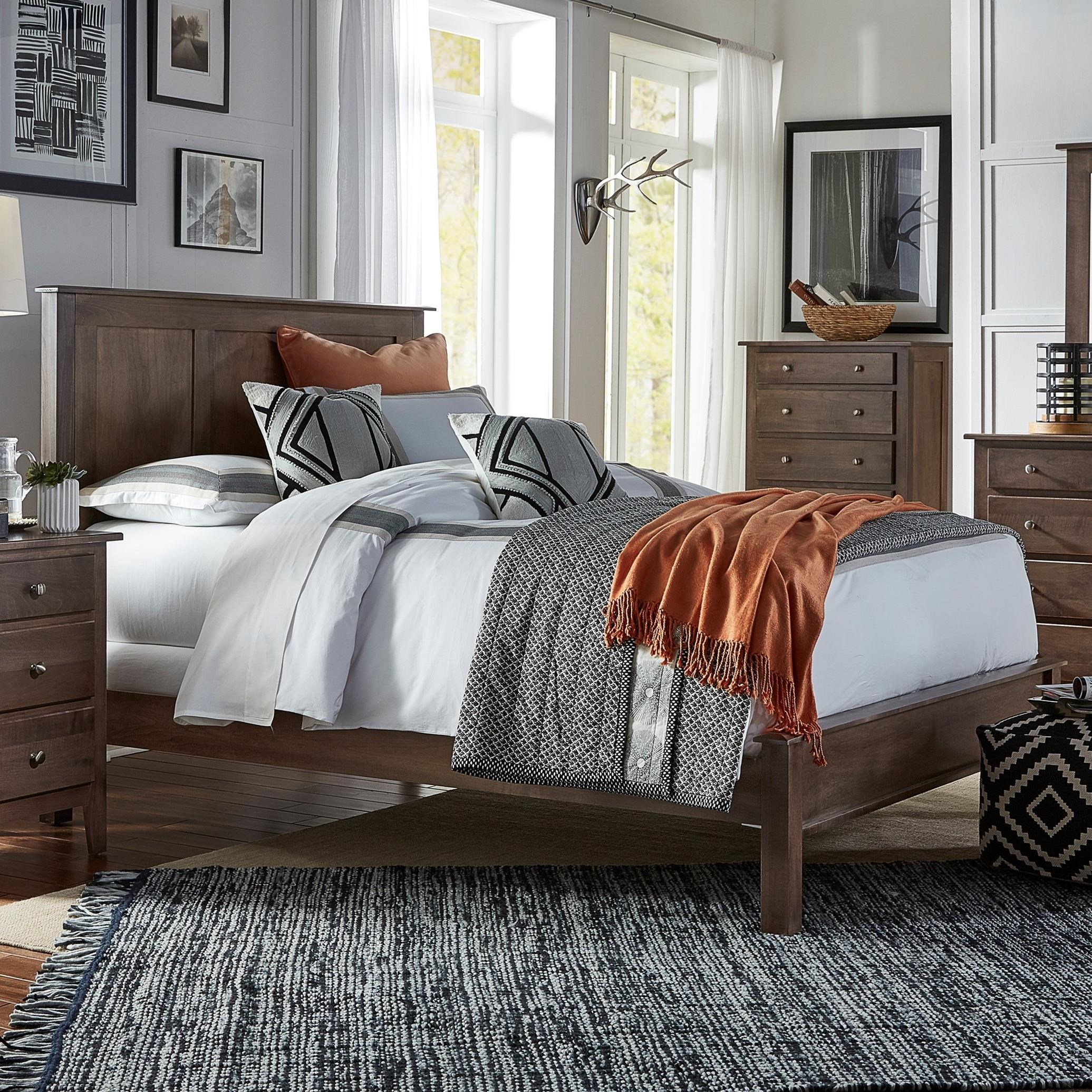 Mapleton California King Bed with Low Footboard by Daniel's Amish at Saugerties Furniture Mart