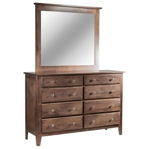 8-Drawer Dresser & Mirror Set