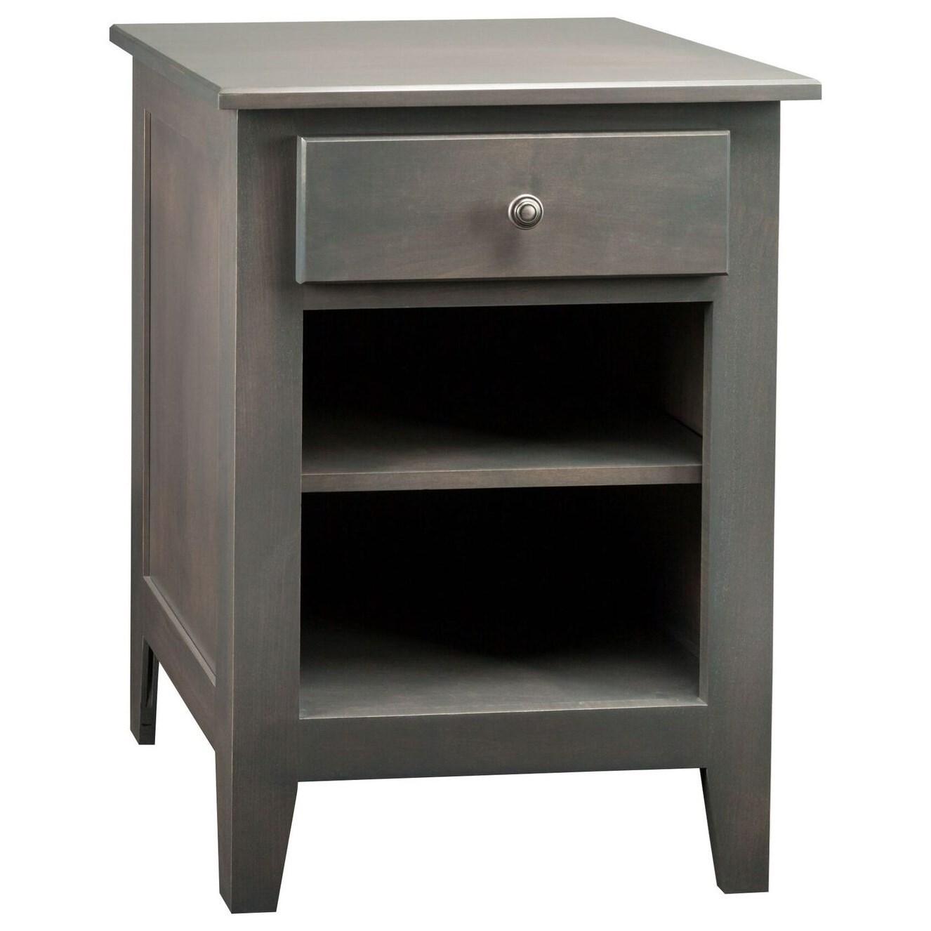 Mapleton 1-Drawer 1-Shelf Nightstand by Daniel's Amish at Saugerties Furniture Mart