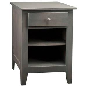 1-Drawer 1-Shelf Nightstand