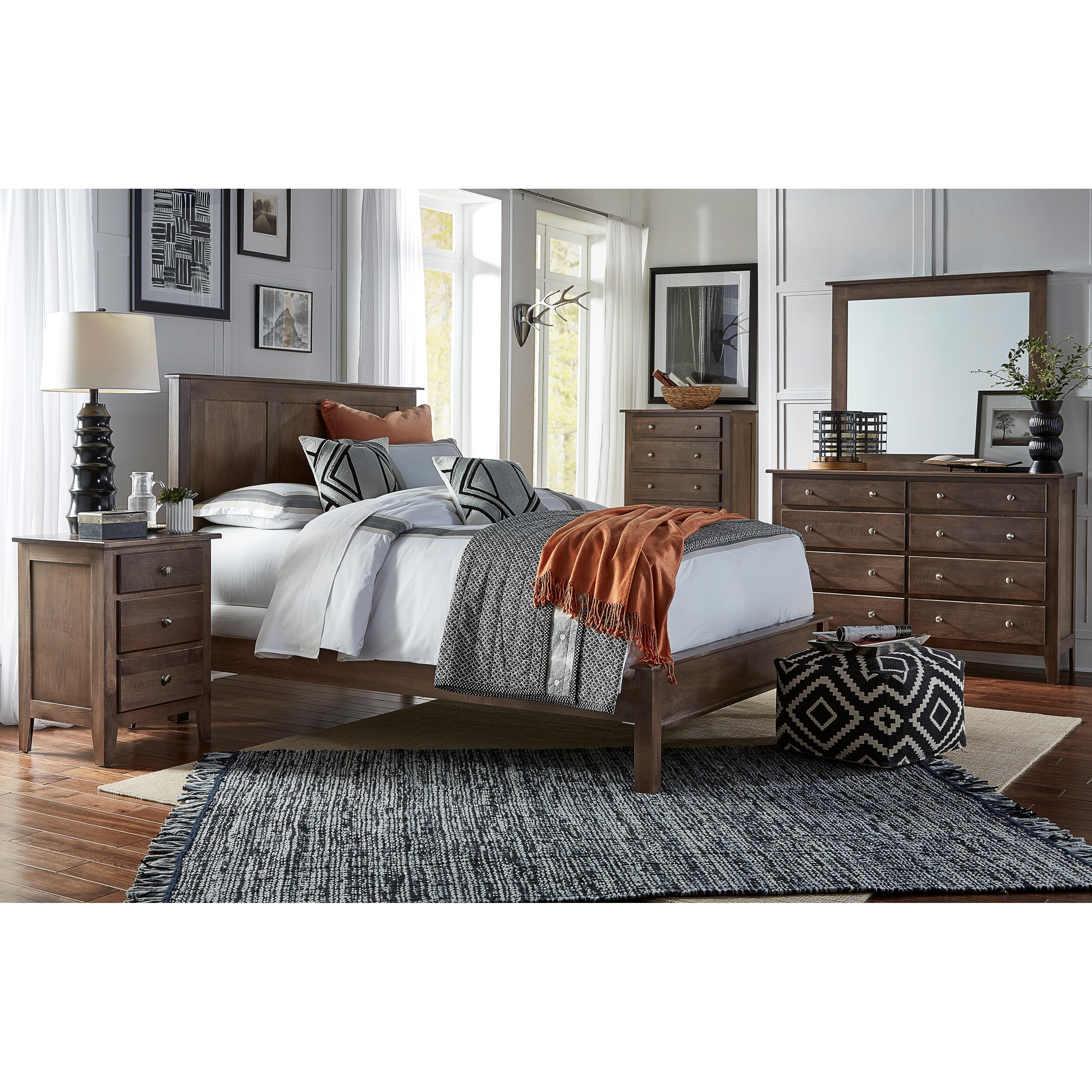 Mapleton King Bedroom Group by Daniel's Amish at H.L. Stephens