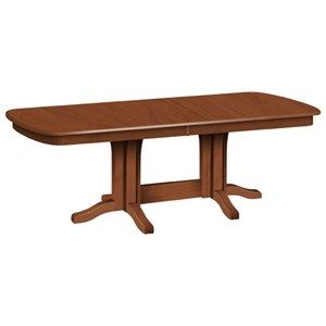 Customizable Solid Wood Millsdale Rectangular Dining Table with Trestle Base