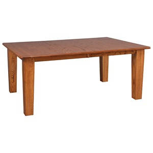 Solid Wood Dining Table with 2-12