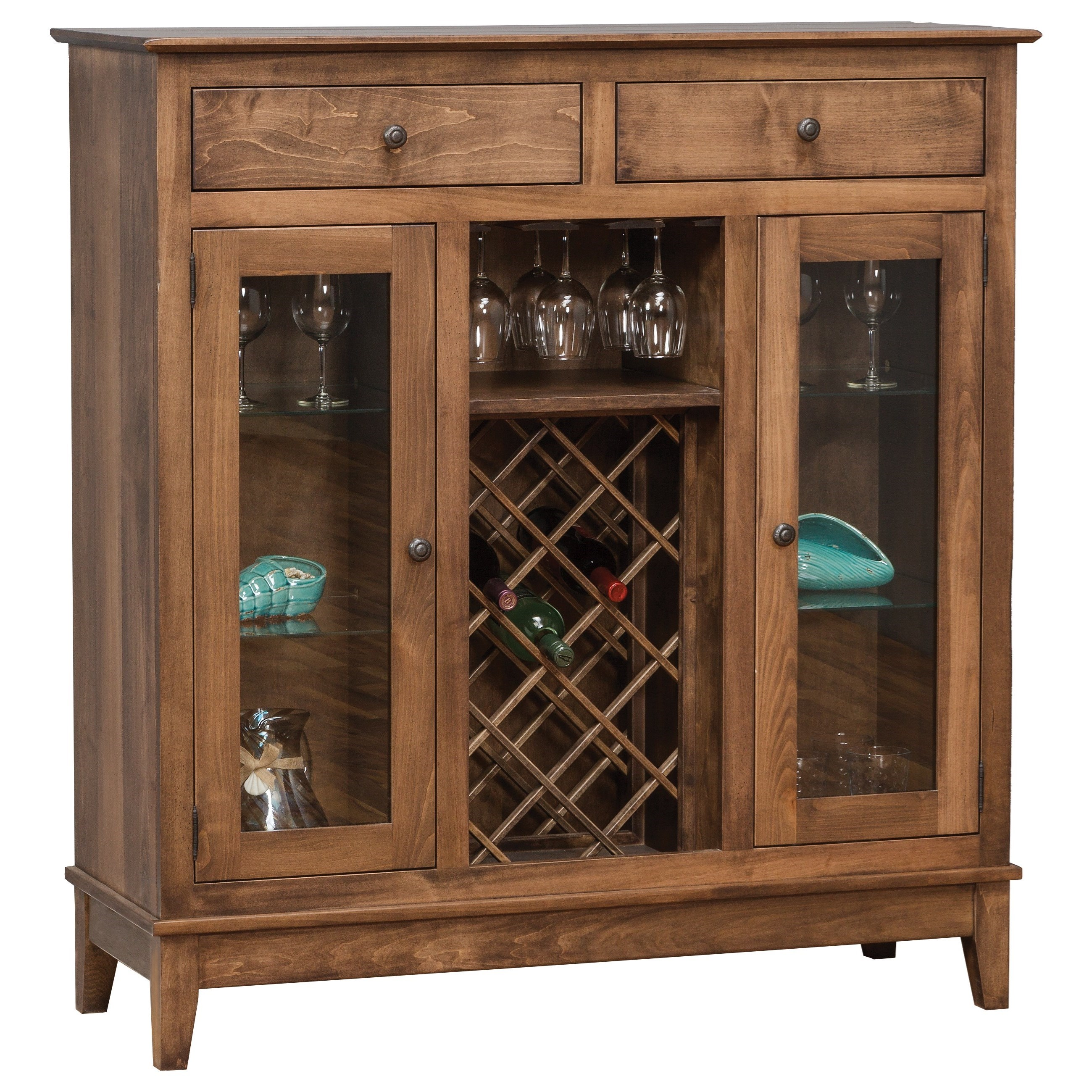 Dining Storage Shaker Wine Cabinet by Daniel's Amish at H.L. Stephens