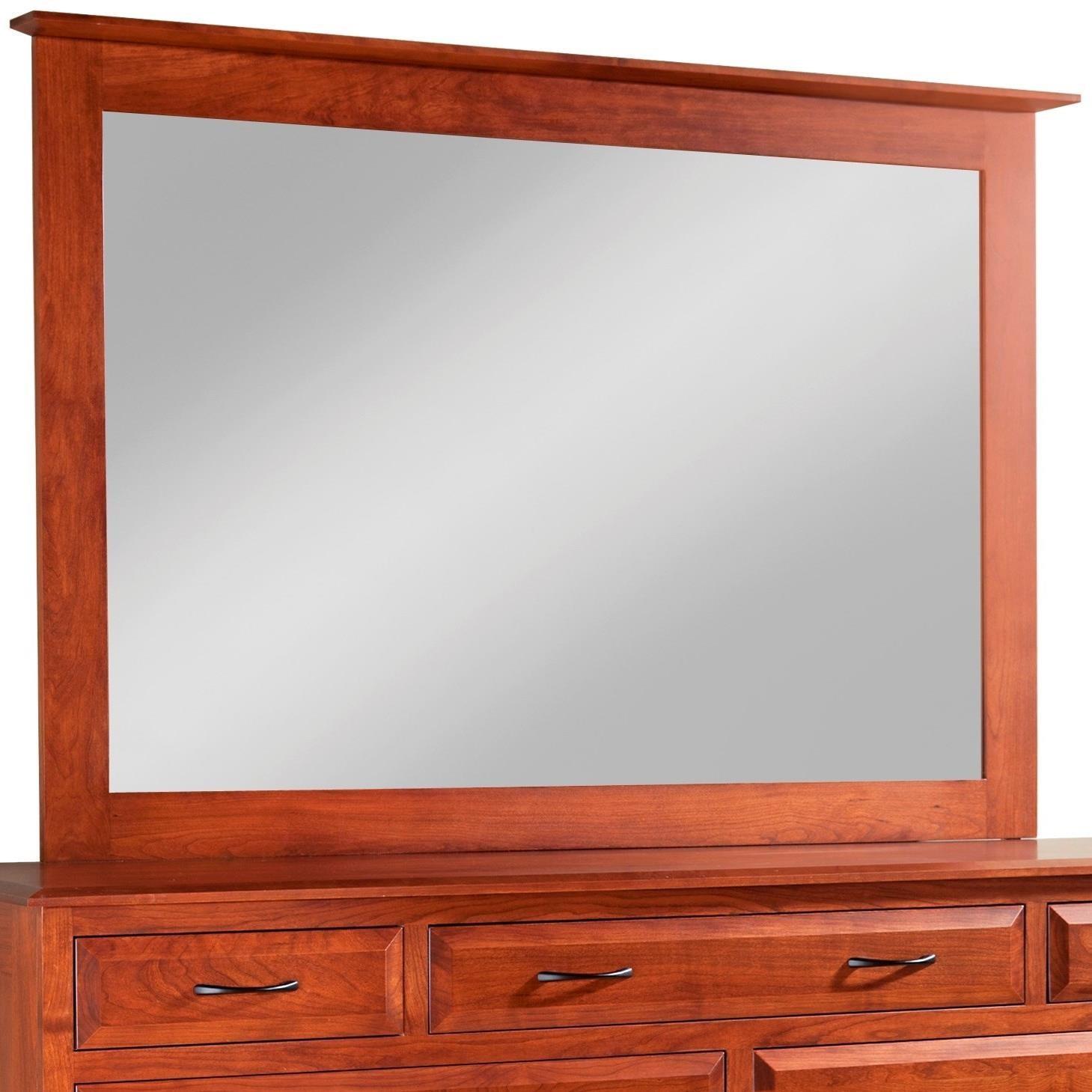 Simplicity Tall Medium Mirror by Daniel's Amish at Saugerties Furniture Mart